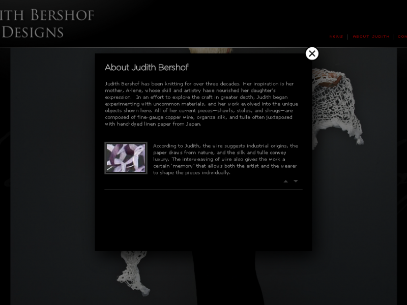 Judith Bershof Designs > About Us