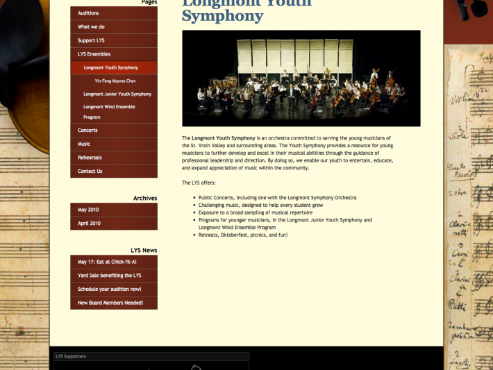 About the Youth Symphony
